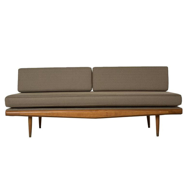 *SOLD* Mid-Century Neutral Grey Brown Armerican Modern Daybed