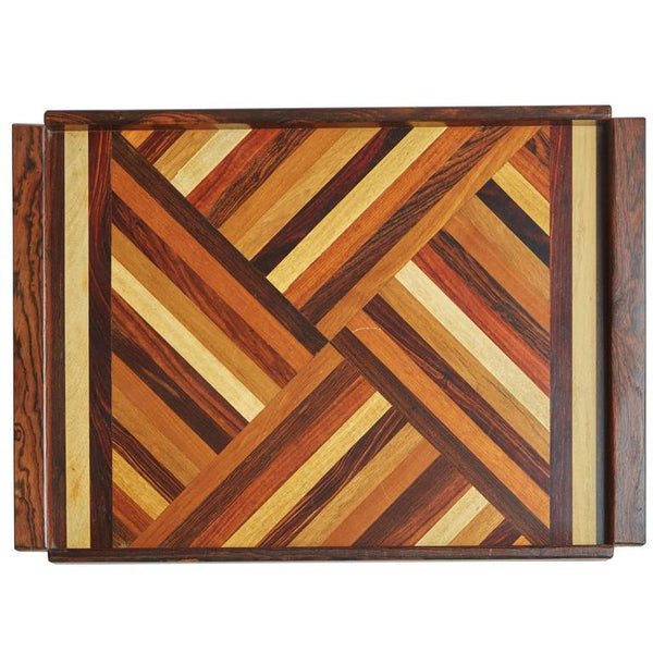 Mixed Wood Serving Tray by Don Shoemaker