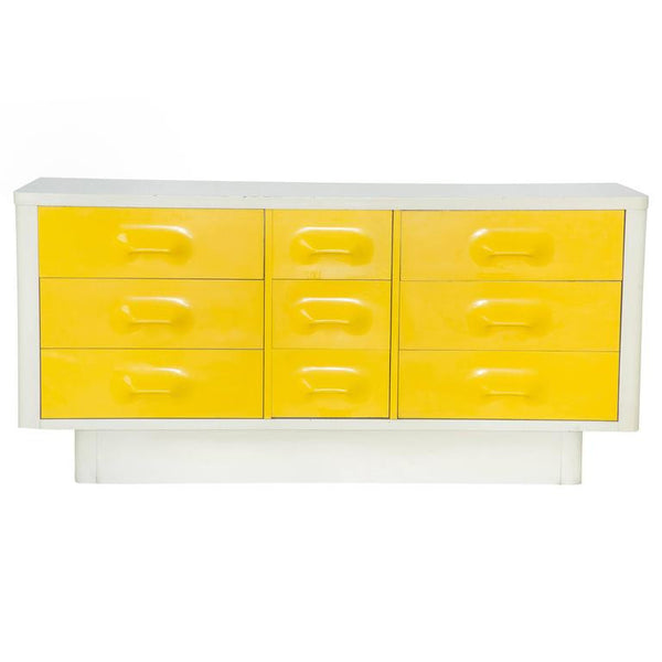 *SOLD*  Mod Pop Raymond Loewy Style Nine-Drawer Dresser