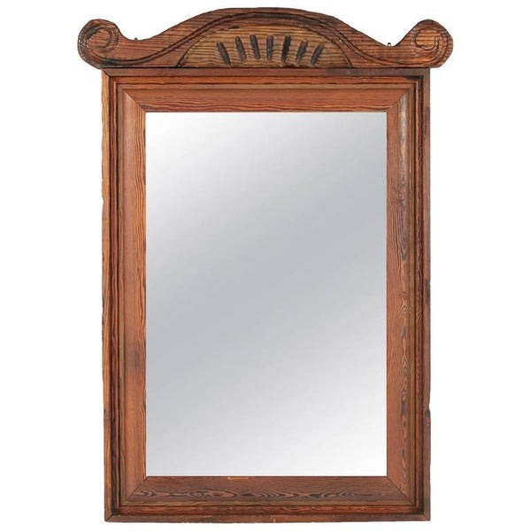William Westenhaver for Witco Grand Ornately Carved Tiki Mirror, circa 1950