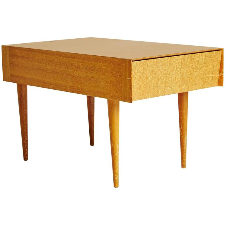 *SOLD* Paul Laszlo for Brown Saltman Light Ribbon Mahogany Side Table