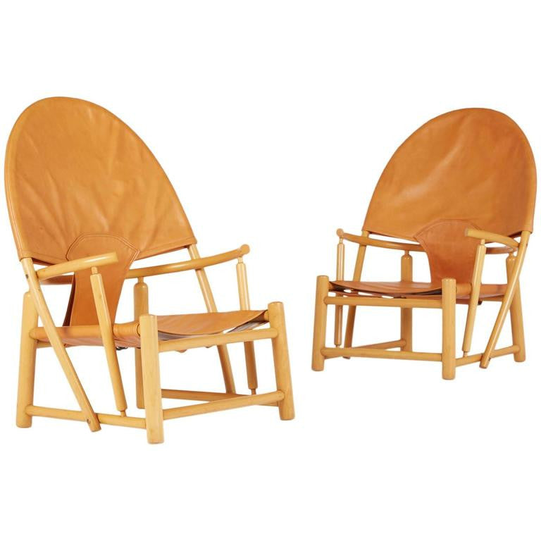 *SOLD* Piero Palange & Werther Toffoloni 'Hoop' Lounge Chairs, Rare Matching Pair