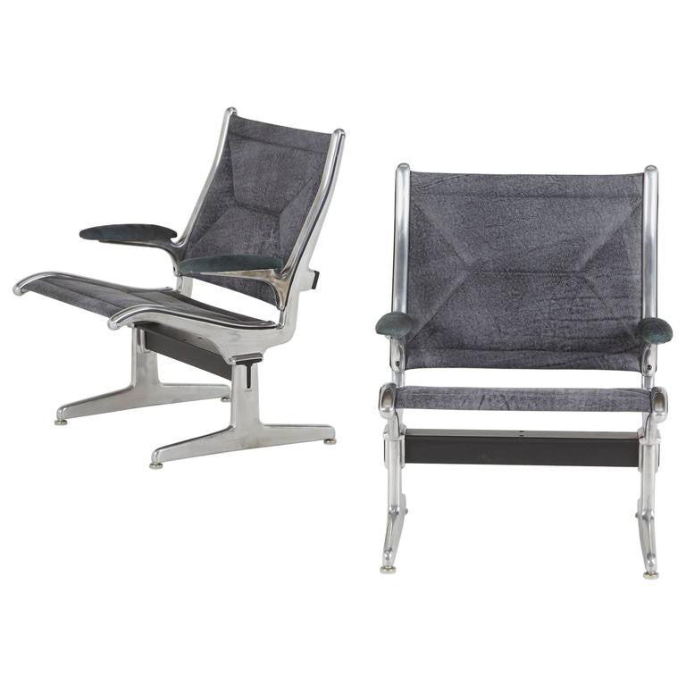 Tandem Sling by Eames for Herman Miller, Restored in Edelman Leathers