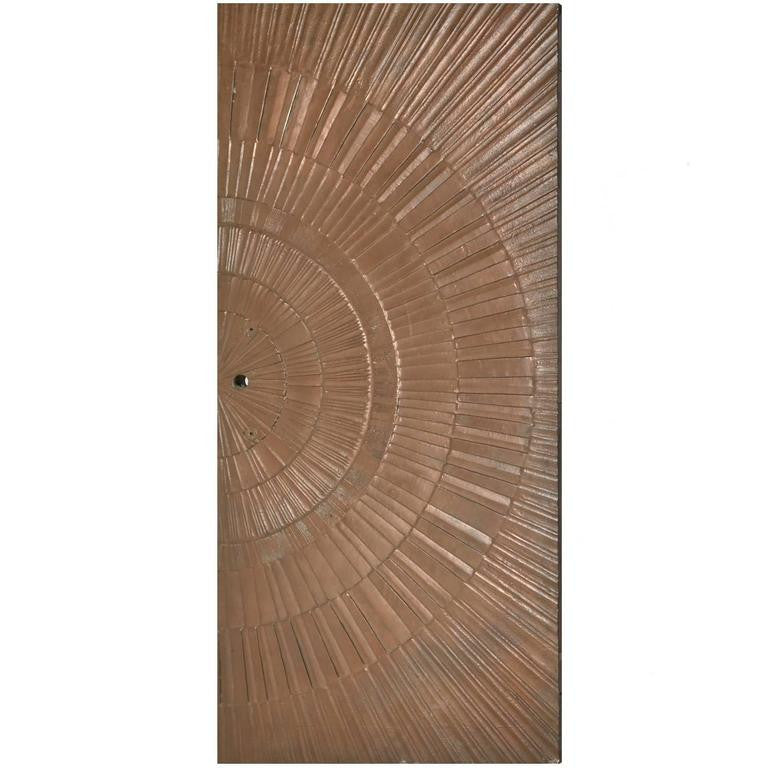 *SOLD* Poured Bronze 'Sunburst' Door by Sherill Broudy for Forms and Surfaces, 1960s
