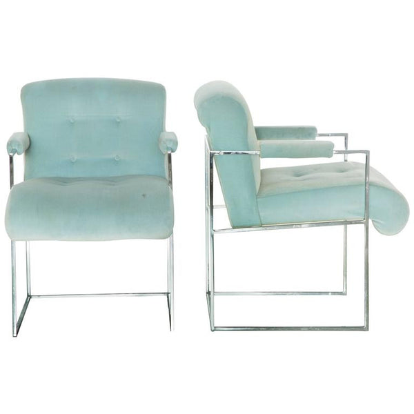*SOLD* Milo Baughman Armchairs for Thayer Coggin