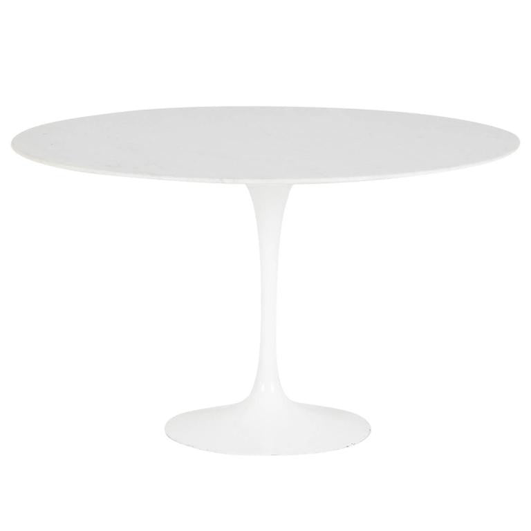 *SOLD* Early Production Marble 'Tulip' Table by Eero Saarinen for Knoll Associates