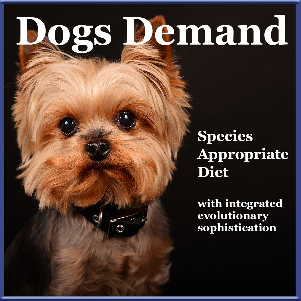 Organic Species Appropriate Dog Food integrated with Evolutionary Sophistication