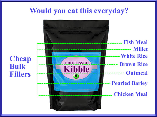 unsafe dog food - dog food kibble is unsafe - dog food kibble - dry dog food -