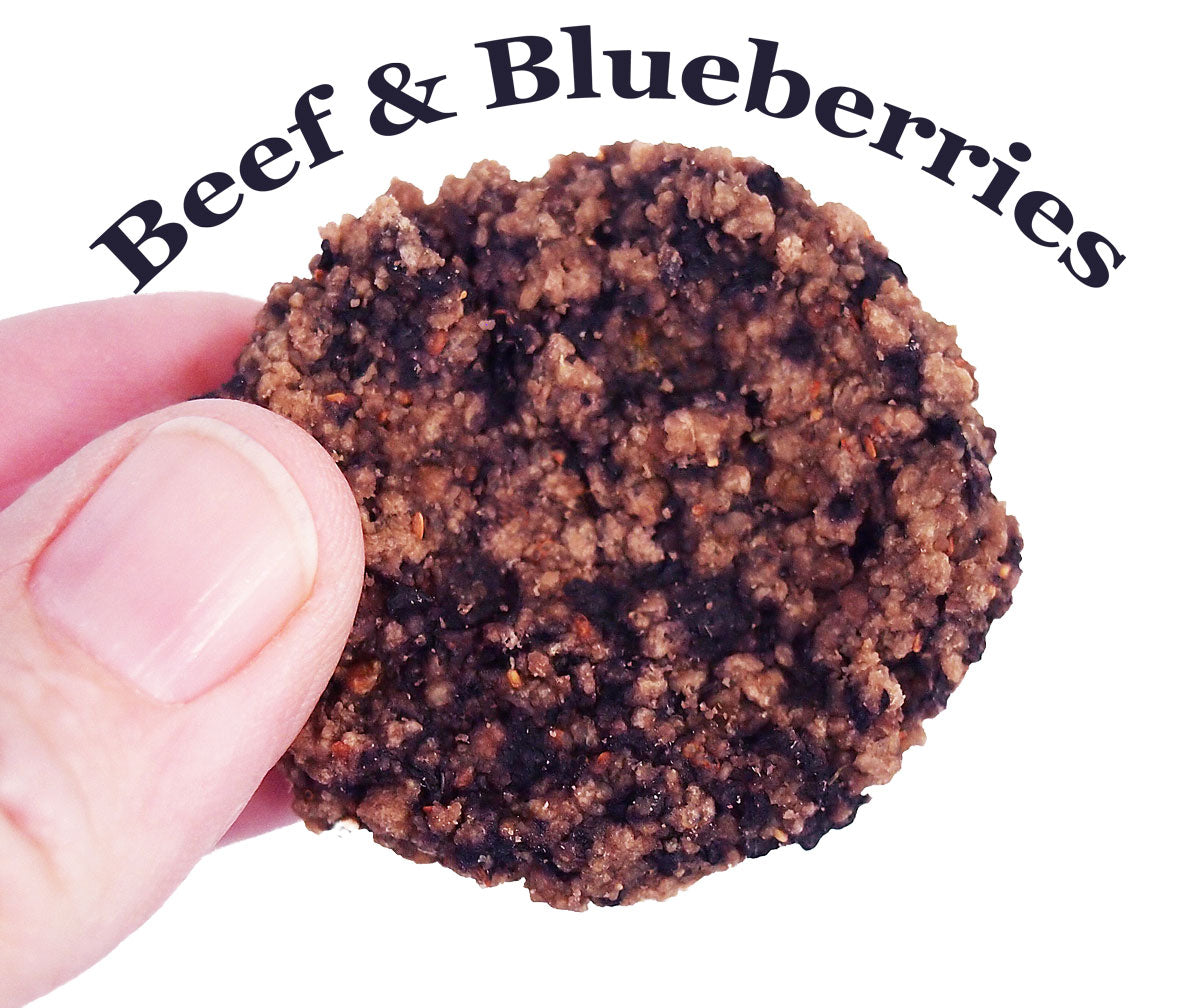 Beef and Blueberries Organic Dehydrated Dog Treats