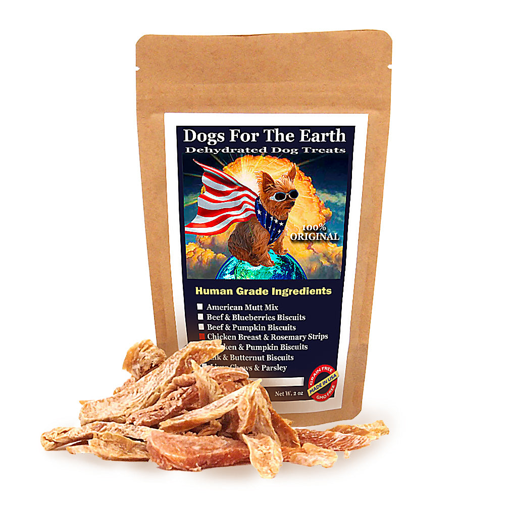 Chicken Breast and Rosemary Original Dehydrated Dog Treats
