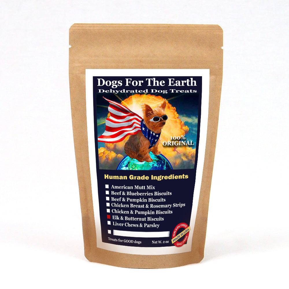 Elk & Butternut Original Dehydrated Dog Treats