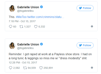 Gabrielle union tweets about sexual assault