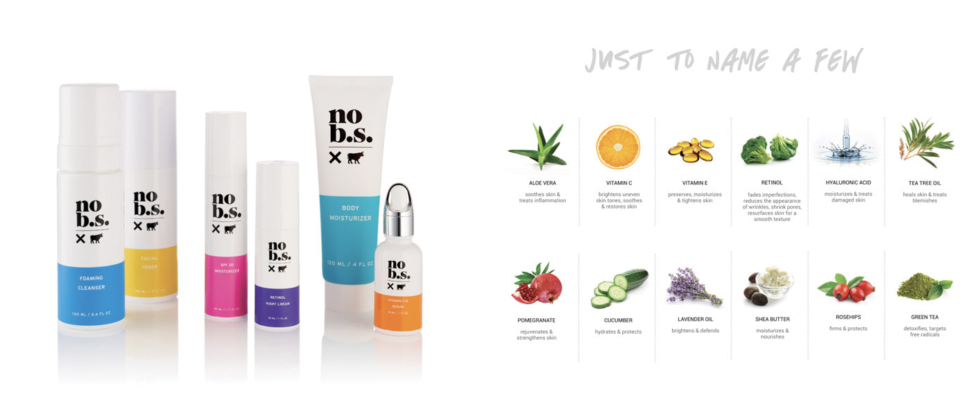 Live No B.S. Skin Care Ingredients