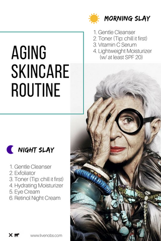 No B.S. blog aging skincare routine