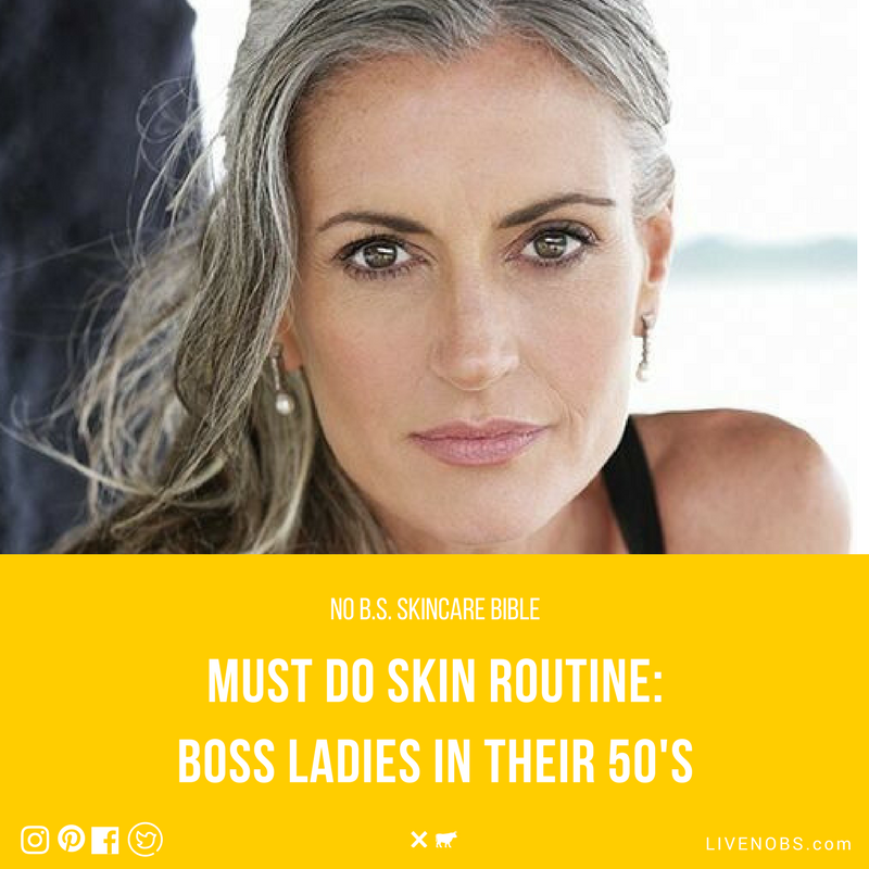 No b.s. skincare guide for women age 50