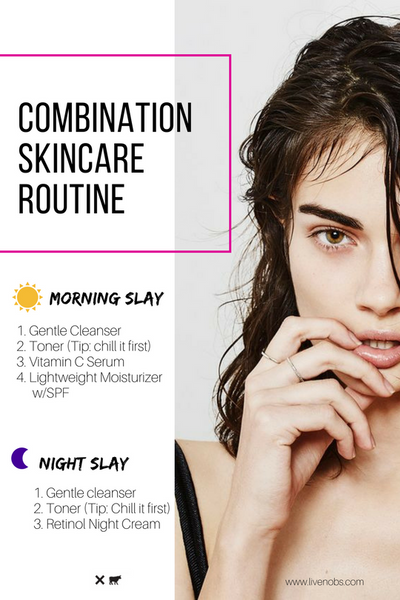 nobs combination skincare routine