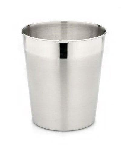 StainlessLUX 71131 Two-Tone Harmony Stainless Steel Waste Basket