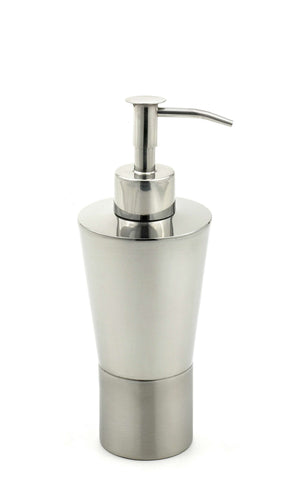 StainlessLUX 71184 Two-tone Stainless Steel Soap Dispenser / Soap Pump (10 Oz)