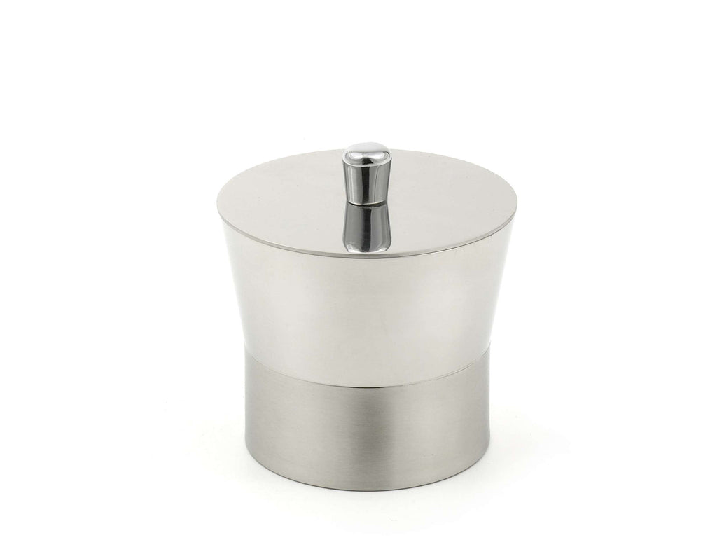 StainlessLUX 71188 Two-tone Stainless Steel Cotton Ball Canister