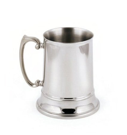 StainlessLUX 73211 Brilliant Double-walled Stainless Steel Large Beer Mug (16 Oz)