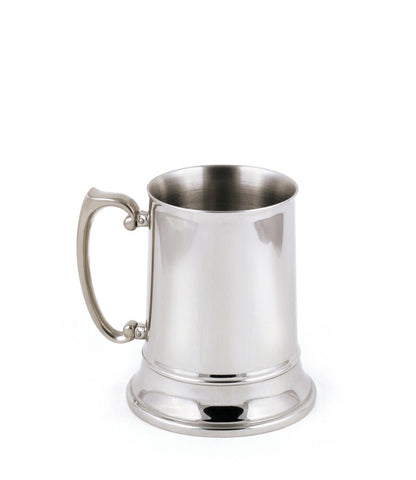 StainlessLUX 73304 Brilliant Double-walled Stainless Steel Small Beer Mug (7 Oz)