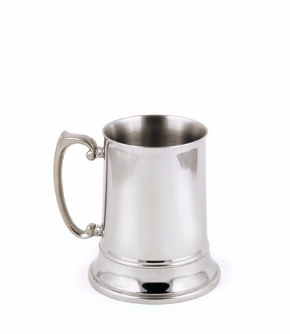 StainlessLUX 73212 Brilliant Double-walled Stainless Steel Beer Mug (12 Oz)