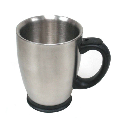 StainlessLUX 73297 Brushed Double-walled Stainless Steel Mug (16 Oz.)