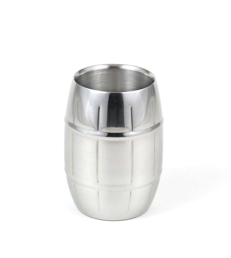 StainlessLUX 73298 Brilliant Double-Walled Stainless Steel Barrel Stripe Tumbler