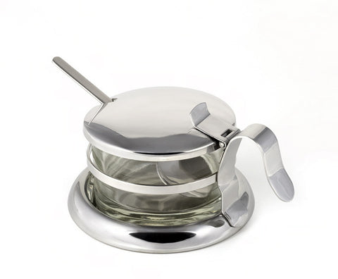 StainlessLUX 73441 Brilliant Stainless Steel Salt Server / Cheese Bowl / Condiment Serving Bowl & Spoon Set