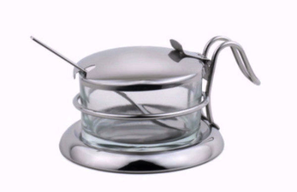 StainlessLUX 73442 Brilliant Wired Stainless Steel Salt Server / Cheese Bowl / Condiment Serving Bowl & Spoon Set