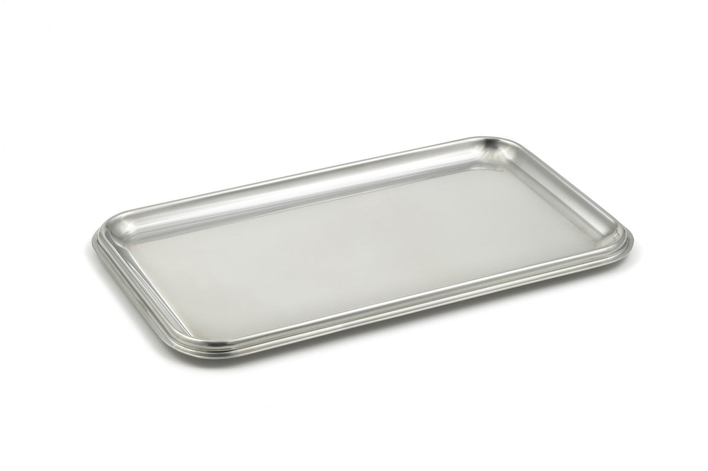 StainlessLUX 75110  Brilliant Stainless Steel Small Rectangle Tray