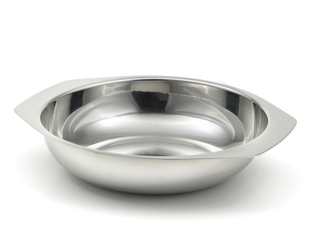 StainlessLUX 75117 Brilliant Stainless Steel Salad Bowl / Side Dish (7.25 by 5 by 2.4 Inches)