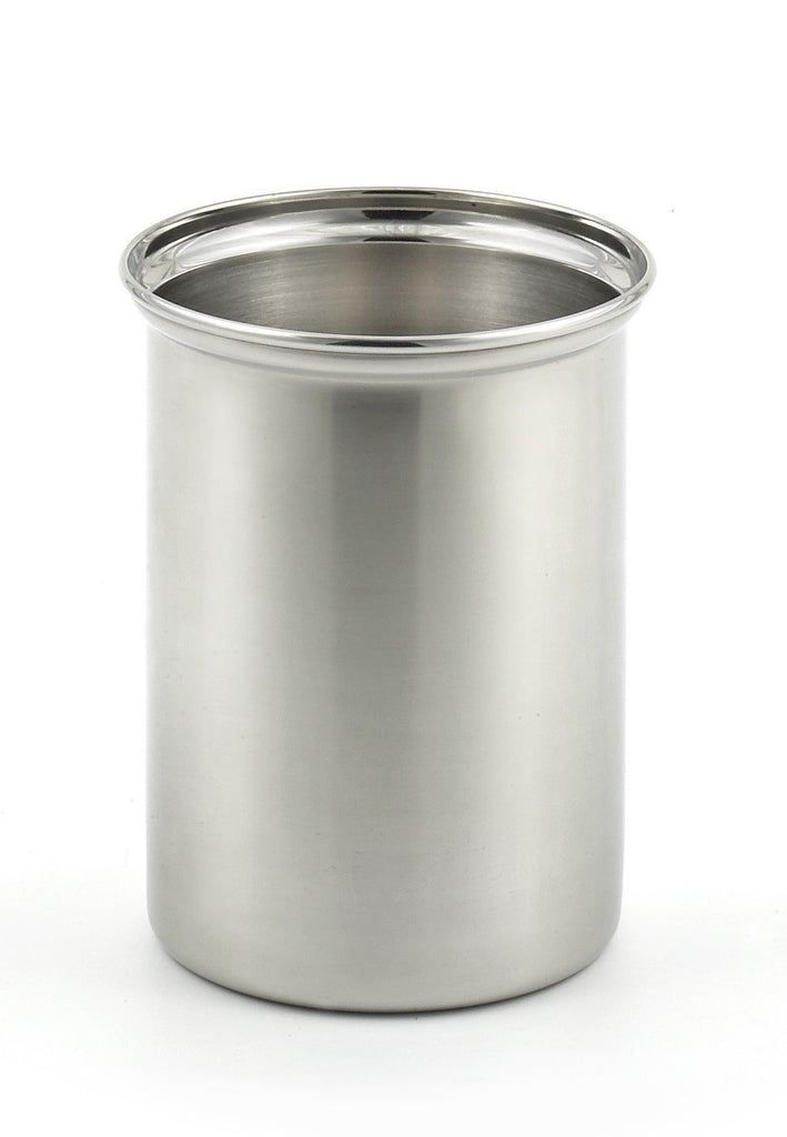 StainlessLUX 75334 Brilliant Stainless Steel Utensil Holder / Kitchen Crock - Irregular with Minor Costmetic Interior Dents/Scatches