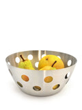 StainlessLUX 76324 Brushed Stainless Steel Fruit Bowl / Bread Basket