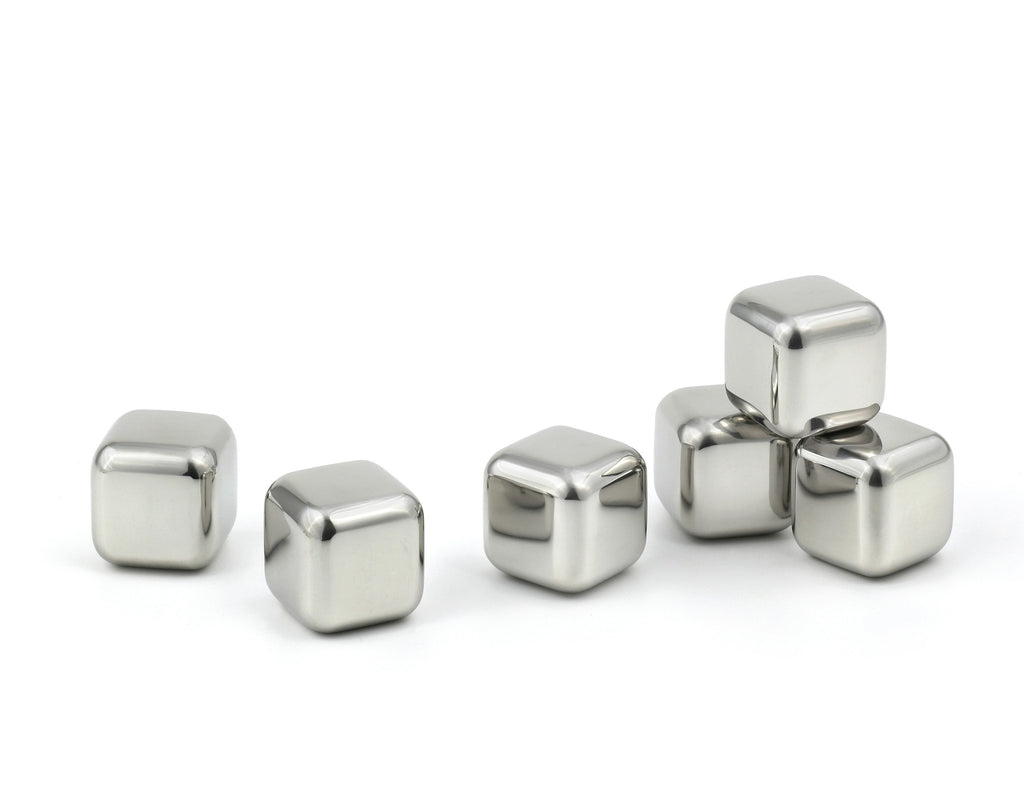 StainlessLUX 77301 Brilliant Stainless Steel Ice Cube Set (6 Pieces / Set)