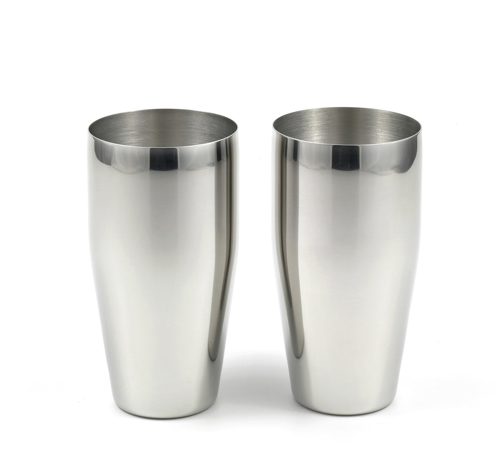 StainlessLUX 77366 Brilliant Stainless Steel Tumblers / (24 Oz) Drinking Glass Set (2 Tumblers / Set)