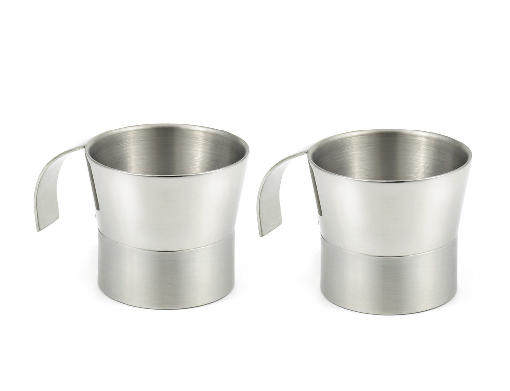 StainlessLUX 77385 Two-tone Double-walled Stainless Steel Small Cups (7 Oz.) (2 Cups / Set)