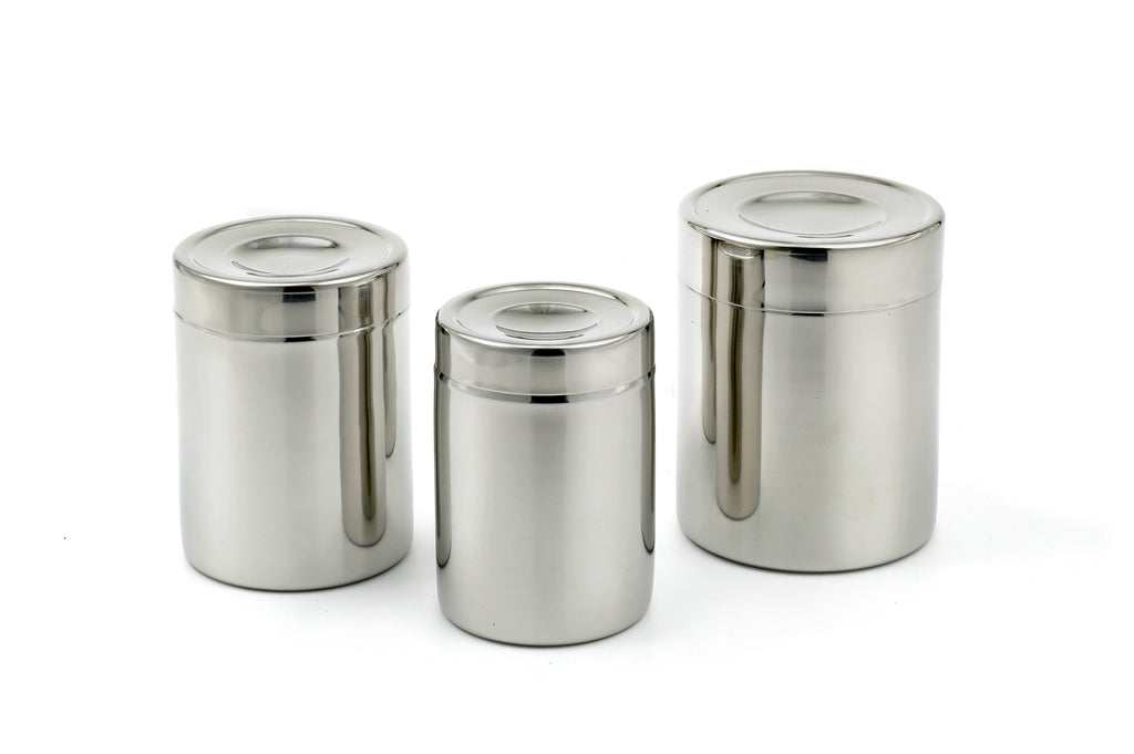 StainlessLUX 77406 Brillant Stainless Steel Canister Set