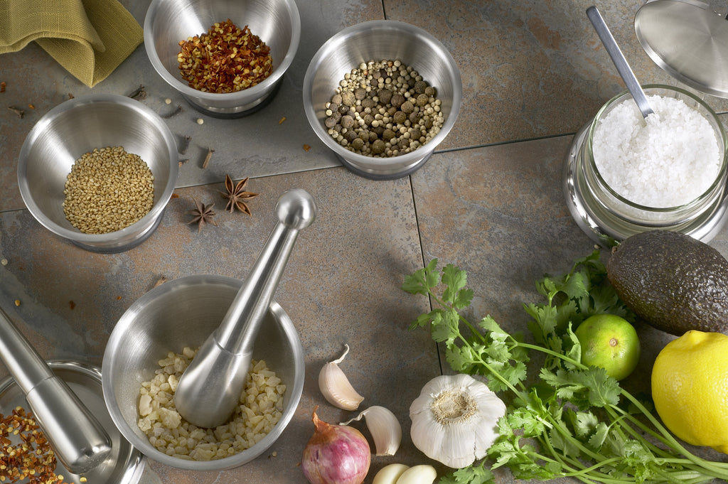 Gourmet Food Preparation Starts with a StainlessLUX 75551 Mortar & Pestle