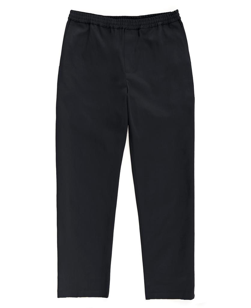 drawstring trouser / black