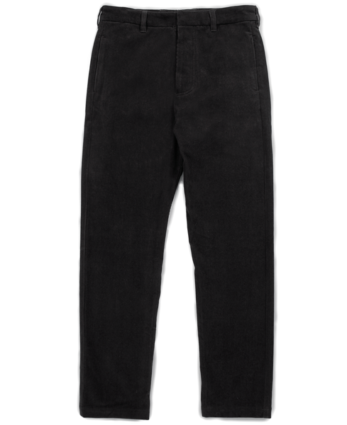 corduroy trouser / black