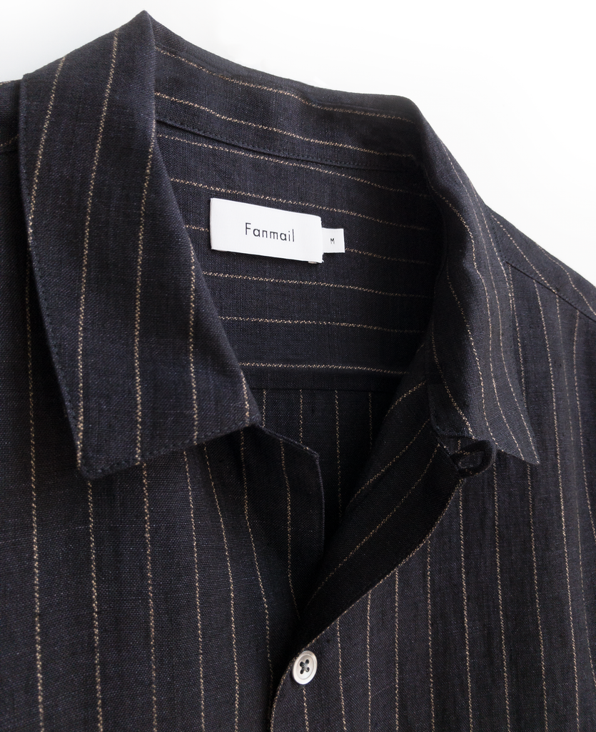 uniform shirt / indigo pinstripe - new