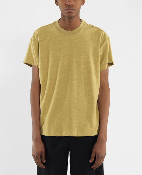 boxy tee / mellow gold