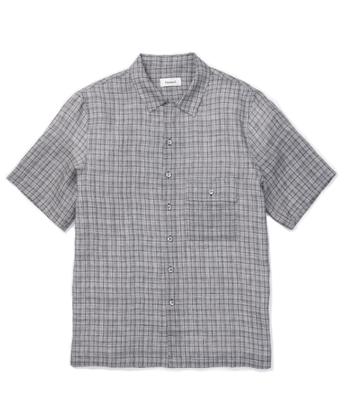 uniform shirt / navy check