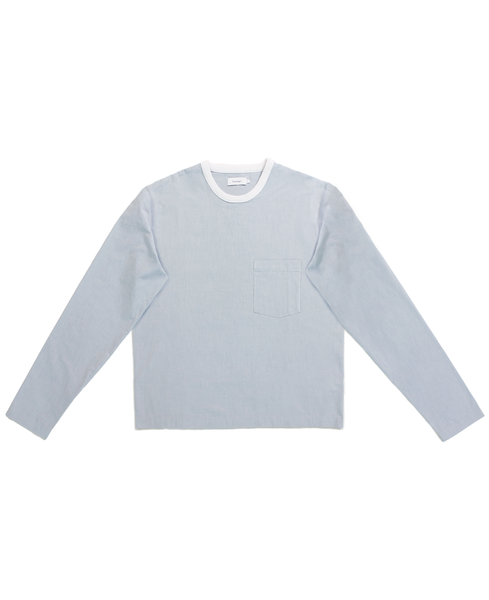 l/s poplin tshirt /  oxford blue