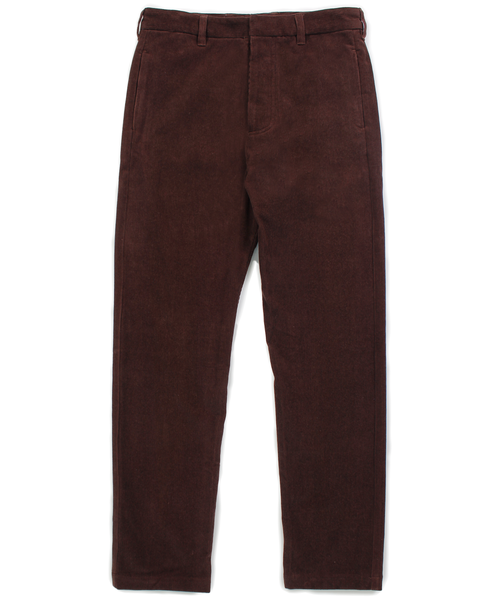 corduroy trouser / port red