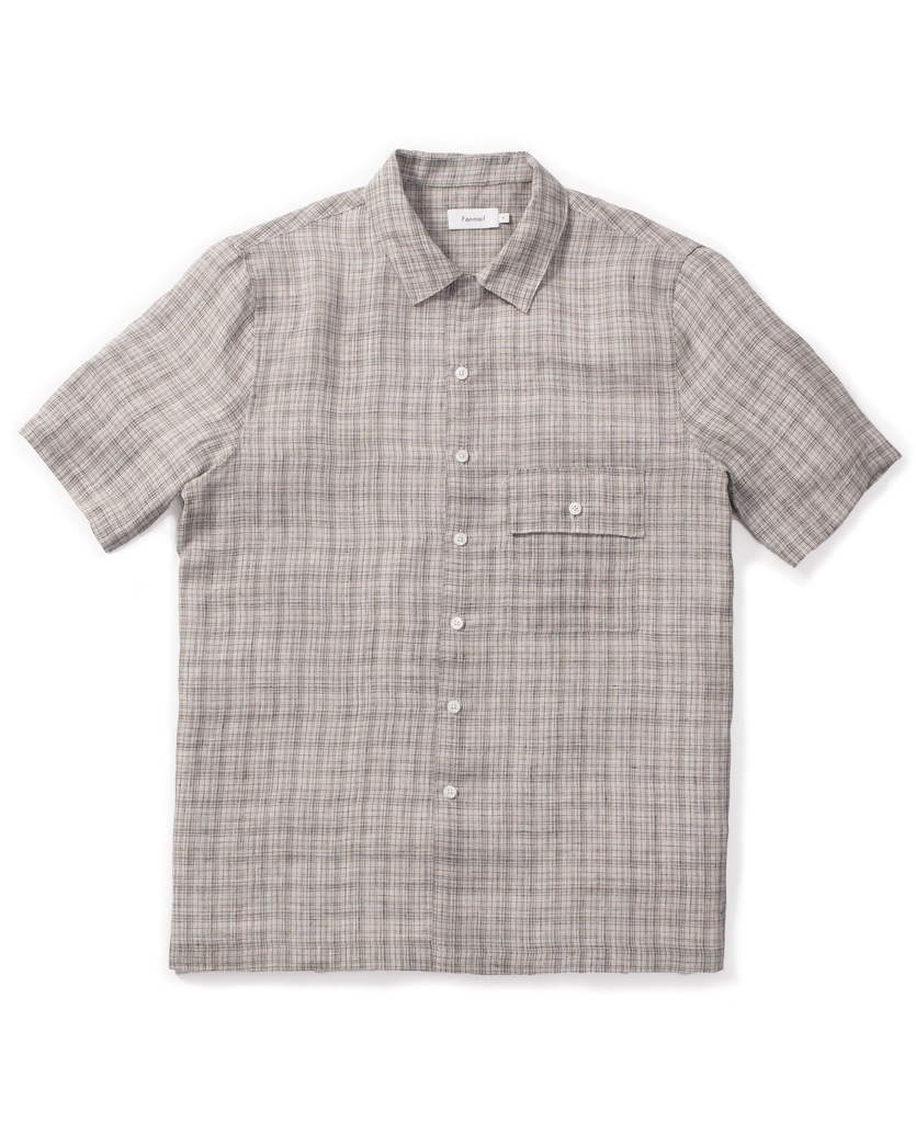 uniform shirt / ecru check
