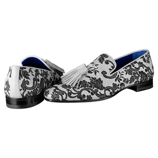 Damascus Series White Espresso Tassel Loafer