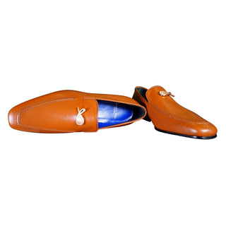 Caramello With Rose Gold Hardware Leather Loafers