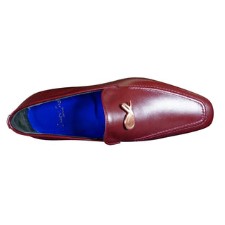 Bordo With Rose Gold Hardware Leather Loafers